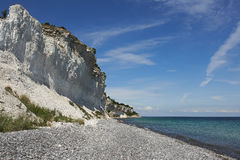 Απότομος βράχος Stevns, Δανία Στοκ Εικόνες
