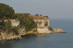 Απότομος βράχος Stevns Στοκ Εικόνες