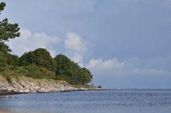 Απότομος βράχος Stevns Στοκ εικόνες με δικαίωμα ελεύθερης χρήσης