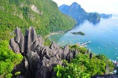 Απότομος βράχος Taraw της EL Nido Στοκ φωτογραφία με δικαίωμα ελεύθερης χρήσης
