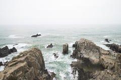 Απότομος βράχος Tojinbo Στοκ Φωτογραφία