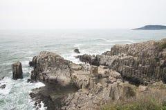 Απότομος βράχος Tojinbo Στοκ εικόνες με δικαίωμα ελεύθερης χρήσης