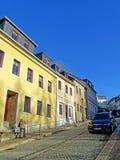 Απότομος δρόμος στην παλαιά πόλη annaberg-Buchholz Στοκ φωτογραφία με δικαίωμα ελεύθερης χρήσης
