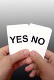απόφαση 3 καρτών Στοκ εικόνες με δικαίωμα ελεύθερης χρήσης