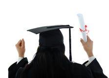 απόφοιτος φοιτητής εσθήτων κοριτσιών Στοκ φωτογραφία με δικαίωμα ελεύθερης χρήσης