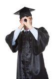 Απόφοιτος φοιτητής που εξετάζει το μέλλον Στοκ Εικόνες