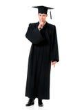 Απόφοιτος φοιτητής στο μανδύα στοκ εικόνες με δικαίωμα ελεύθερης χρήσης
