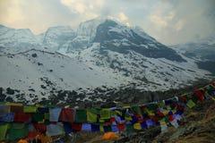 Απόψεις από το άδυτο στρατόπεδων βάσεων Annapurna Στοκ εικόνες με δικαίωμα ελεύθερης χρήσης