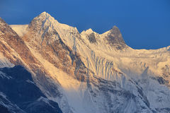 Απόψεις από το άδυτο στρατόπεδων βάσεων Annapurna Στοκ Εικόνες