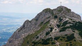 Απόψεις και οδοιπορία Czerwone Wierchy βουνών Tatry Στοκ Εικόνα