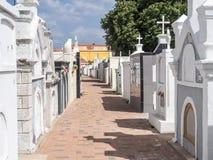 Απόψεις νεκροταφείων γύρω από Otrobanda Στοκ Φωτογραφίες