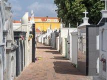 Απόψεις νεκροταφείων γύρω από Otrobanda Στοκ Εικόνες