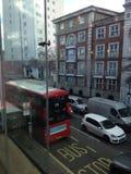 Απόψεις οδών του Λονδίνου Fulham από το μπαρ στοκ εικόνες