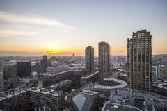 Απόψεις πόλεων του Λονδίνου πέρα από Barbican Στοκ Εικόνες