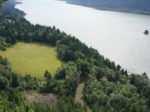 Απόψεις σχετικά με τον ποταμό της Κολούμπια κράτος Όρεγκον ΗΠΑ Στοκ Εικόνα