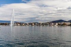 Απόψεις της Γενεύης στις 11 Απριλίου 2015 Στοκ Φωτογραφίες