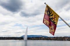 Απόψεις της Γενεύης στις 11 Απριλίου 2015 Στοκ φωτογραφία με δικαίωμα ελεύθερης χρήσης