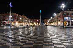 Απόψεις της θέσης Massena τη νύχτα Το τετράγωνο βρίσκεται στο CI Στοκ Φωτογραφία