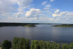 Απόψεις της λίμνης από ένα ύψος στοκ εικόνες