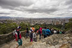 Απόψεις της Νίκαιας Bogotà ¡ από το ίχνος Monserrate Στοκ εικόνα με δικαίωμα ελεύθερης χρήσης
