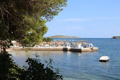 Απόψεις της Νίκαιας Ibiza Άγιος Antoni Στοκ Εικόνα