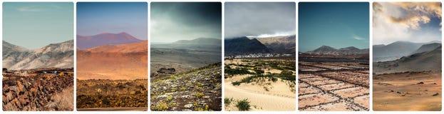 Απόψεις τοπίου βουνών σε Lanzarote Στοκ εικόνα με δικαίωμα ελεύθερης χρήσης