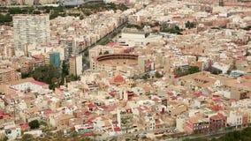 Απόψεις του λιμένα της πόλης της Αλικάντε απόθεμα βίντεο