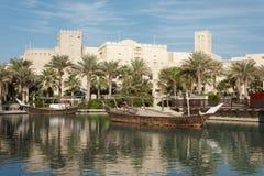 Απόψεις του ξενοδοχείου Madinat Jumeirah, Ντουμπάι, Ε.Α.Ε. Στοκ εικόνα με δικαίωμα ελεύθερης χρήσης