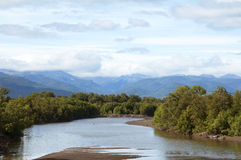 Απόψεις του ποταμού Kamchatka Στοκ εικόνες με δικαίωμα ελεύθερης χρήσης