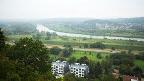 Απόψεις του ποταμού Vistula το misty πρωί Στοκ Εικόνες