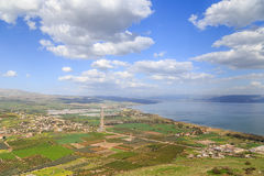 Απόψεις του υποστηρίγματος Arbel και των βράχων Ισραήλ Στοκ Εικόνα