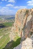 Απόψεις του υποστηρίγματος Arbel και των βράχων isrel Στοκ φωτογραφία με δικαίωμα ελεύθερης χρήσης