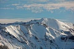 Απόψεις του χιονώδους ορεινού όγκου Schoener Mann από Schwarzenberg στοκ εικόνες με δικαίωμα ελεύθερης χρήσης