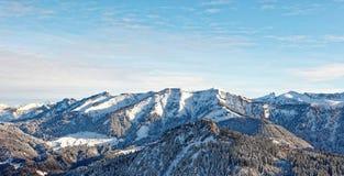 Απόψεις του χιονώδους ορεινού όγκου Schoener Mann από Schwarzenberg στοκ εικόνα με δικαίωμα ελεύθερης χρήσης