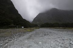 Απόψεις των βουνών και των βράχων της Νέας Ζηλανδίας Στοκ Εικόνες