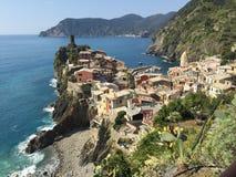 Απόψεις Cinque Terre ενώ Στοκ φωτογραφία με δικαίωμα ελεύθερης χρήσης