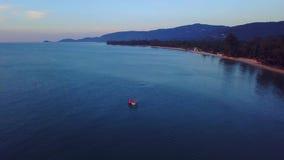 Απόψεις Koh Samui στην Ταϊλάνδη από τον ουρανό απόθεμα βίντεο