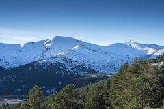 Απόψεις Navacerrada του θερέτρου ουρανού Στοκ Εικόνα