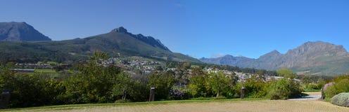 Απόψεις Stellenbosch στη Νότια Αφρική Στοκ Εικόνα