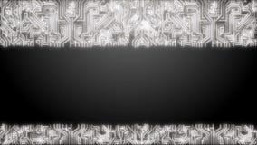 Από έναν πίνακα κυκλωμάτων σε ένα ανθρώπινους κεφάλι και έναν εγκέφαλο τεχνολογία Loopable μετακινηθείτε έξω άσπρος διανυσματική απεικόνιση