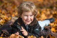 Απόλαυση στην εποχή φθινοπώρου Στοκ Φωτογραφίες