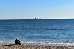 Απόλαυση της θάλασσας στο Εστορίλ Στοκ Φωτογραφίες