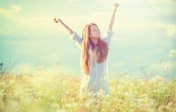 απόλαυση της φύσης κοριτ&si Στοκ Εικόνα