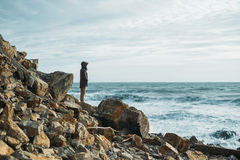 Απόλαυση της όμορφης θάλασσας Στοκ Εικόνες