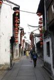 Απόλαυση του μαλακού χρόνου στην παλαιά πόλης οδό (Jiaxing, Κίνα) Στοκ φωτογραφία με δικαίωμα ελεύθερης χρήσης