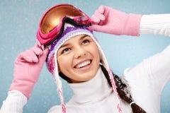 απόλαυση των χιονοπτώσε&omeg στοκ εικόνα
