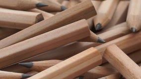 Από γραφίτη μολύβια στην περιστροφή απόθεμα βίντεο