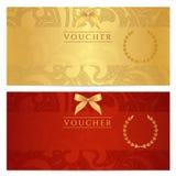 Απόδειξη, πιστοποιητικό δώρων, δελτίο, εισιτήριο. Σχέδιο Στοκ εικόνα με δικαίωμα ελεύθερης χρήσης