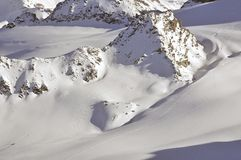 από να κάνει σκι το ίχνος Στοκ Εικόνα
