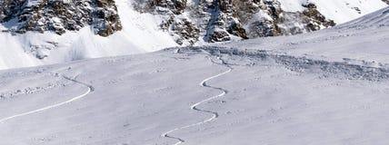 από να κάνει σκι piste Στοκ φωτογραφία με δικαίωμα ελεύθερης χρήσης